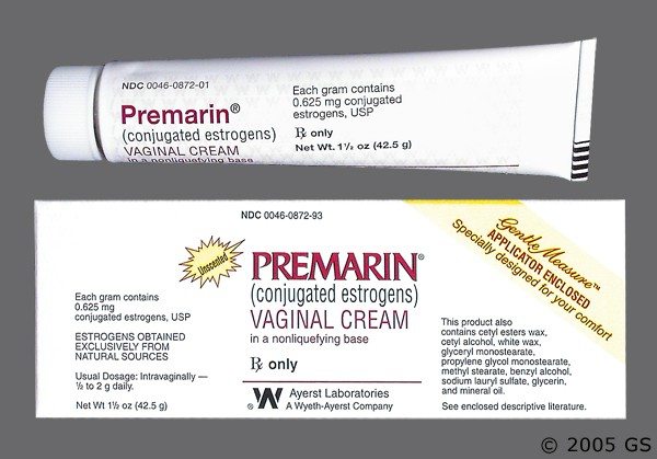 Photo of the drug Premarin.