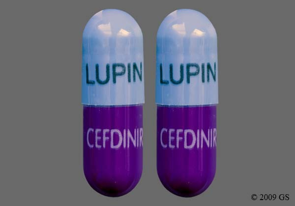 Photo of the drug Cefdinir.