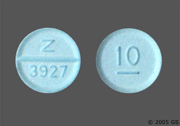 Photo of the drug Diazepam.