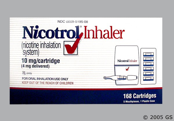 Photo of the drug Nicotrol.