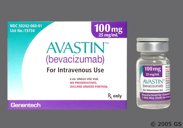 Photo of the drug Avastin.