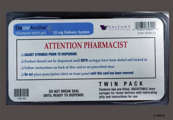 Photo of the drug Diastat Acudial.