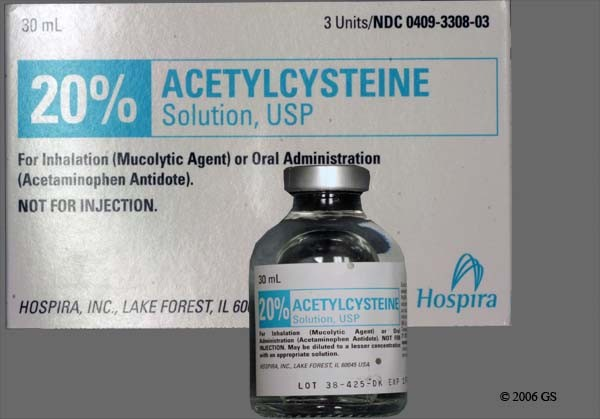 Photo of the drug Acetadote (generic name(s): ACETYLCYSTEINE).