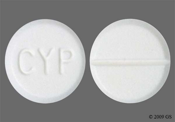 Photo of the drug Cyproheptadine.