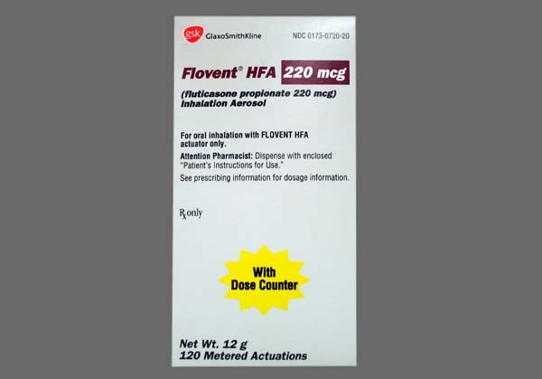 Photo of the drug Flovent Hfa.