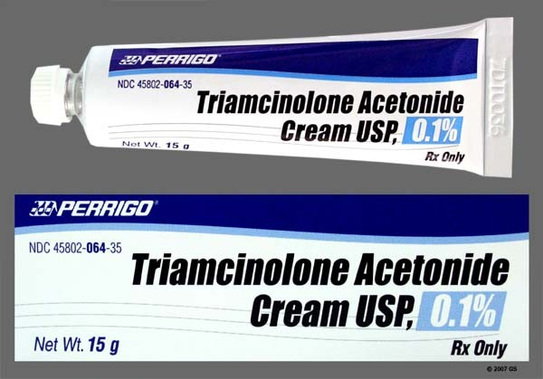 Photo of the drug Triderm (generic name(s): TRIAMCINOLONE ACETONIDE).