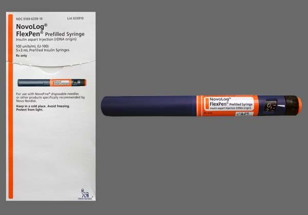 Photo of the drug Novolog Flexpen U-100 Insulin.