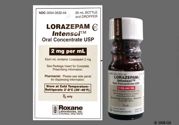 Photo of the drug Lorazepam Intensol.