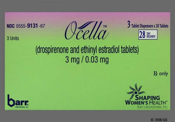 Photo of the drug Ocella (generic name(s): DROSPIRENONE-ETHINYL ESTRADIOL).