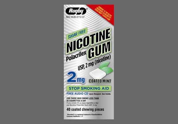 Photo of the drug Nicorette.