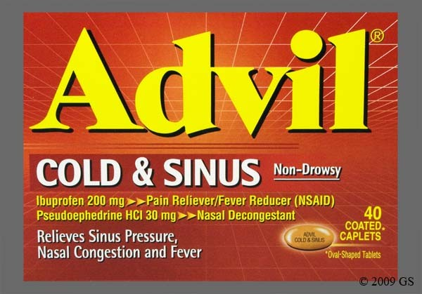 Photo of the drug Advil Cold And Sinus.