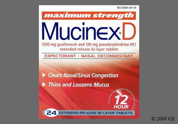 Photo of the drug Mucinex D (generic name(s): PSEUDOEPHEDRINE-GUAIFENESIN).