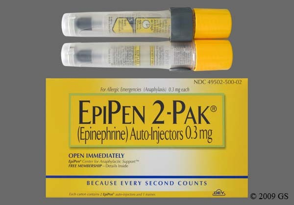 Photo of the drug Epipen 2-pak (generic name(s): EPINEPHRINE).