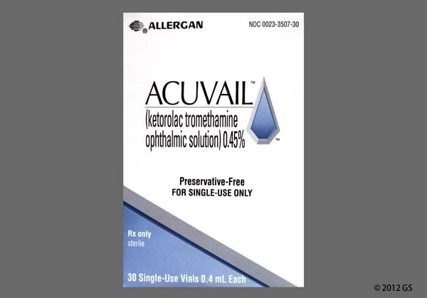 Photo of the drug Acuvail (pf).