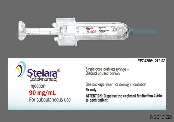 Photo of the drug Stelara.