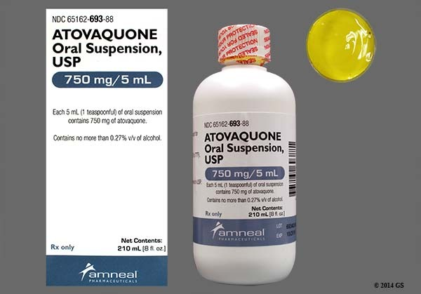 Photo of the drug Atovaquone.