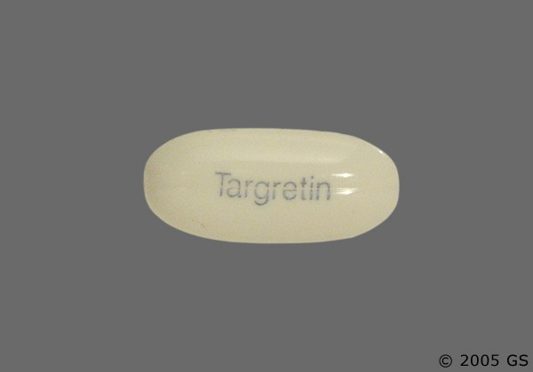 Photo of the drug Targretin (generic name(s): BEXAROTENE).