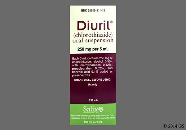 Photo of the drug Diuril (generic name(s): CHLOROTHIAZIDE).