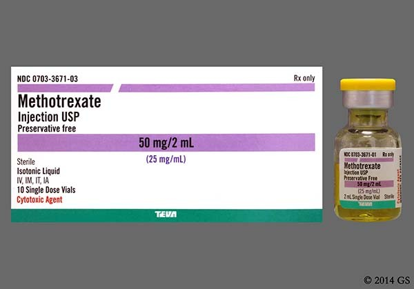 Photo of the drug Methotrexate.