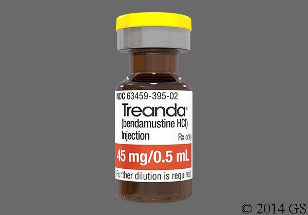 Photo of the drug Treanda (generic name(s): BENDAMUSTINE).