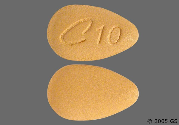 Photo of the drug Cialis (generic name(s): TADALAFIL).