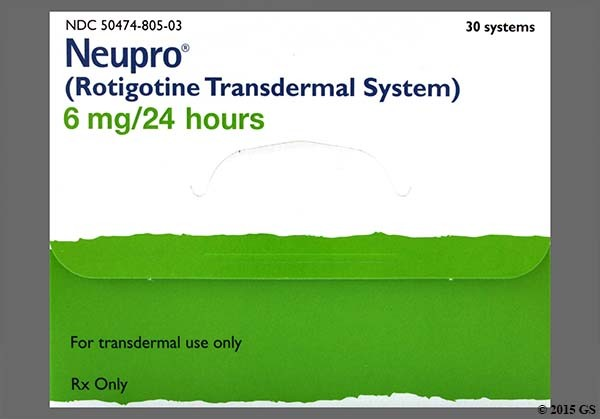 Photo of the drug Neupro.