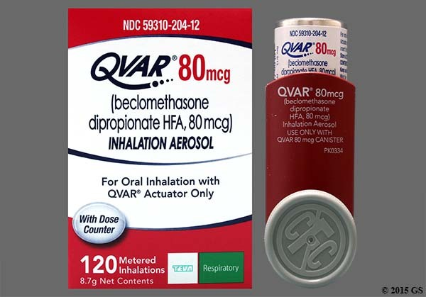 Photo of the drug Qvar.