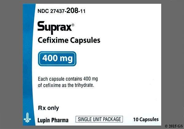 Photo of the drug Suprax.
