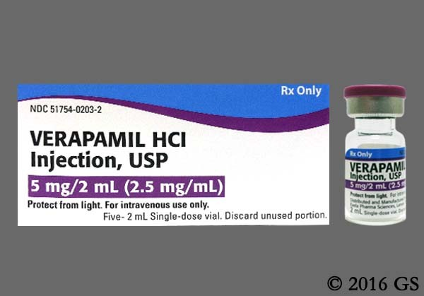 Photo of the drug Verapamil Hydrochloride.