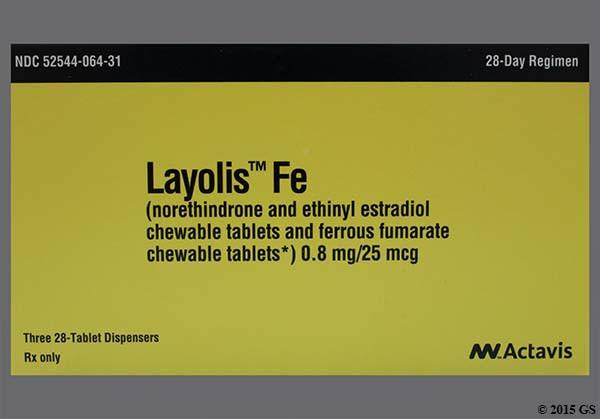 Photo of the drug Layolis Fe (generic name(s): NORETH-ETHINYL ESTRADIOL-IRON).