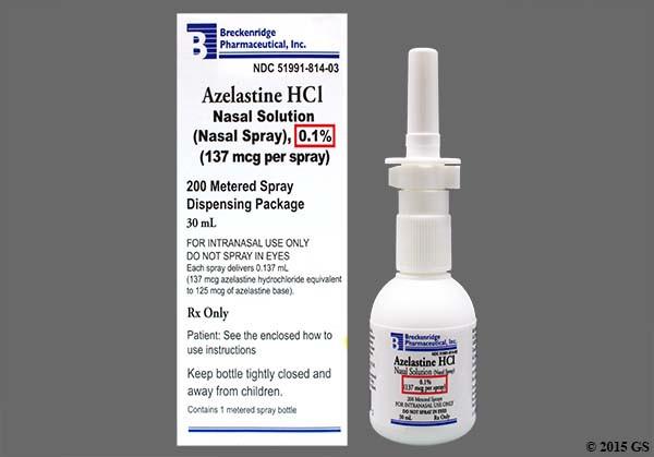Photo of the drug Astepro (generic name(s): AZELASTINE).