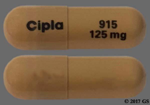 Photo of the drug flutamide (generic name(s): FLUTAMIDE).