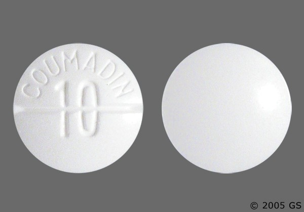 Photo of the drug Coumadin.