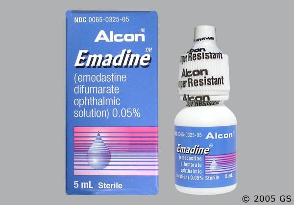 Photo of the drug Emadine (generic name(s): ).