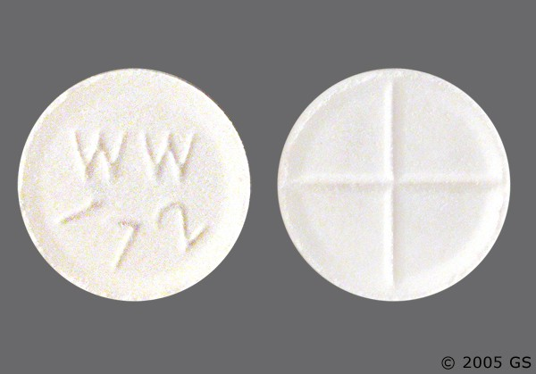 Photo of the drug captopril (generic name(s): CAPTOPRIL).