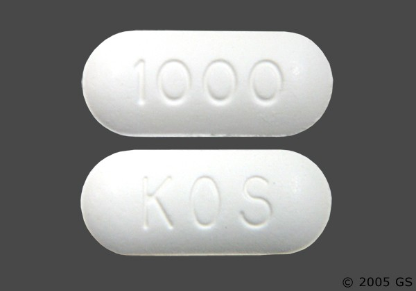 Photo of the drug Niaspan.